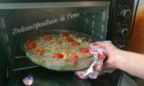 Pasta integrale al forno con zucchine e ricotta