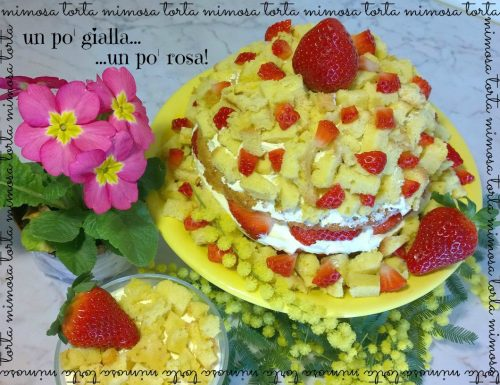 Torta Mimosa (un po' gialla e un po' rosa)