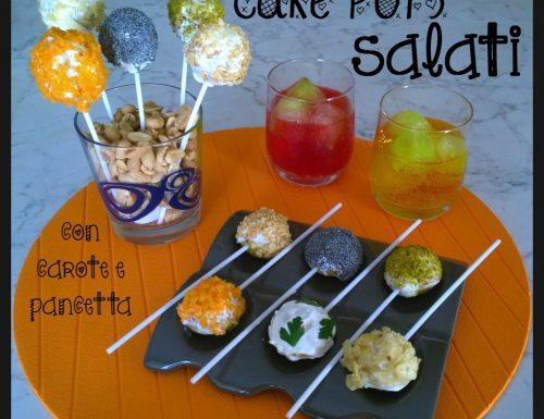 Cake pops salati con carote e pancetta