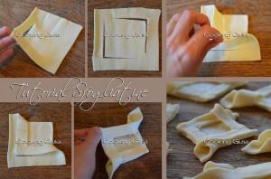 tutorial pasta sfoglia | sfogliatine a forma di rombo | forme di pasta sfoglia