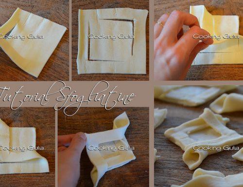 Come piegare la pasta sfoglia a forma di rombo, Tutorial