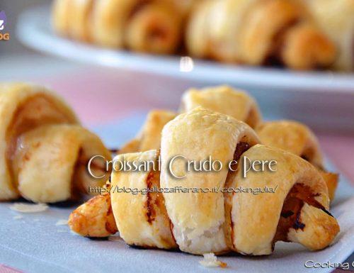 Piccoli Croissant crudo e pere, idea aperitivo