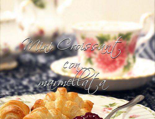 Mini Croissant con marmellata e philadelphia