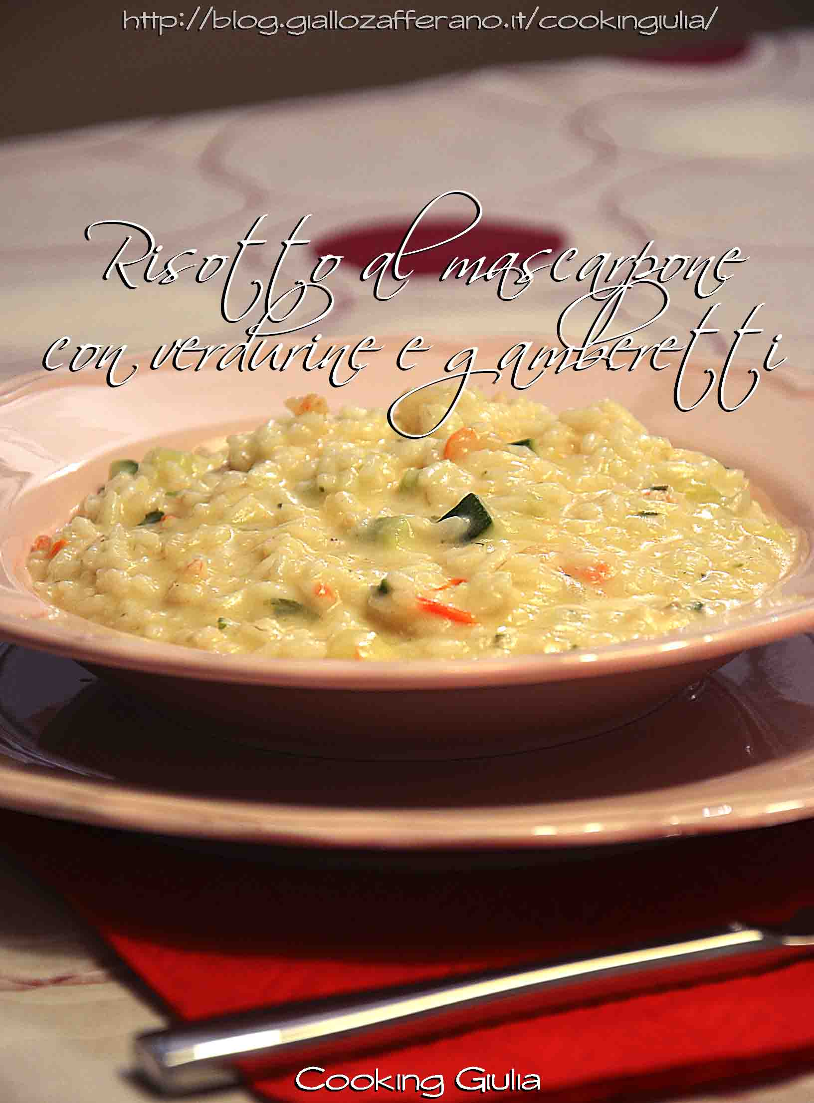 risotto al mascarpone   gamberetti   verdurine