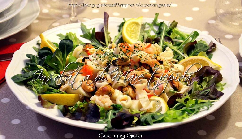 Insalata di mare tiepida ricetta antipasto antipasto pesce for Ricette di pesce