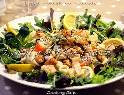 Insalata di mare tiepida, ricetta antipasto di pesce