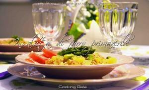 ricetta mese di aprile | aprile | ricetta |insalata di farro | ricetta light | cooking giulia | asparagi e patate | insalata primaverile