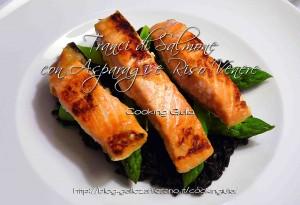 tranci di salmone | asparagi verdi | riso venere | piatto unico | cooking giulia