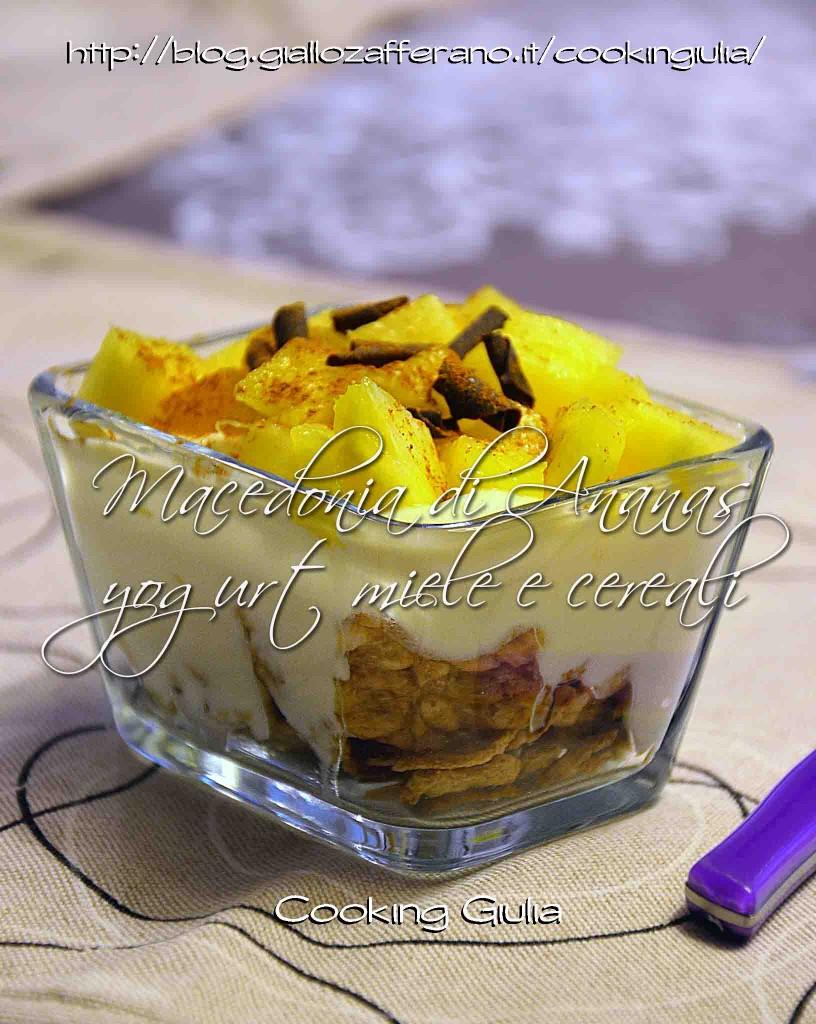 macedonia   ananas   cereali   yogurt   cooking giulia