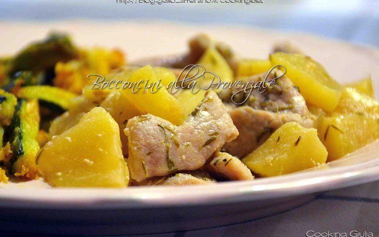 Bocconcini di arista di maiale con mele alla provenzale