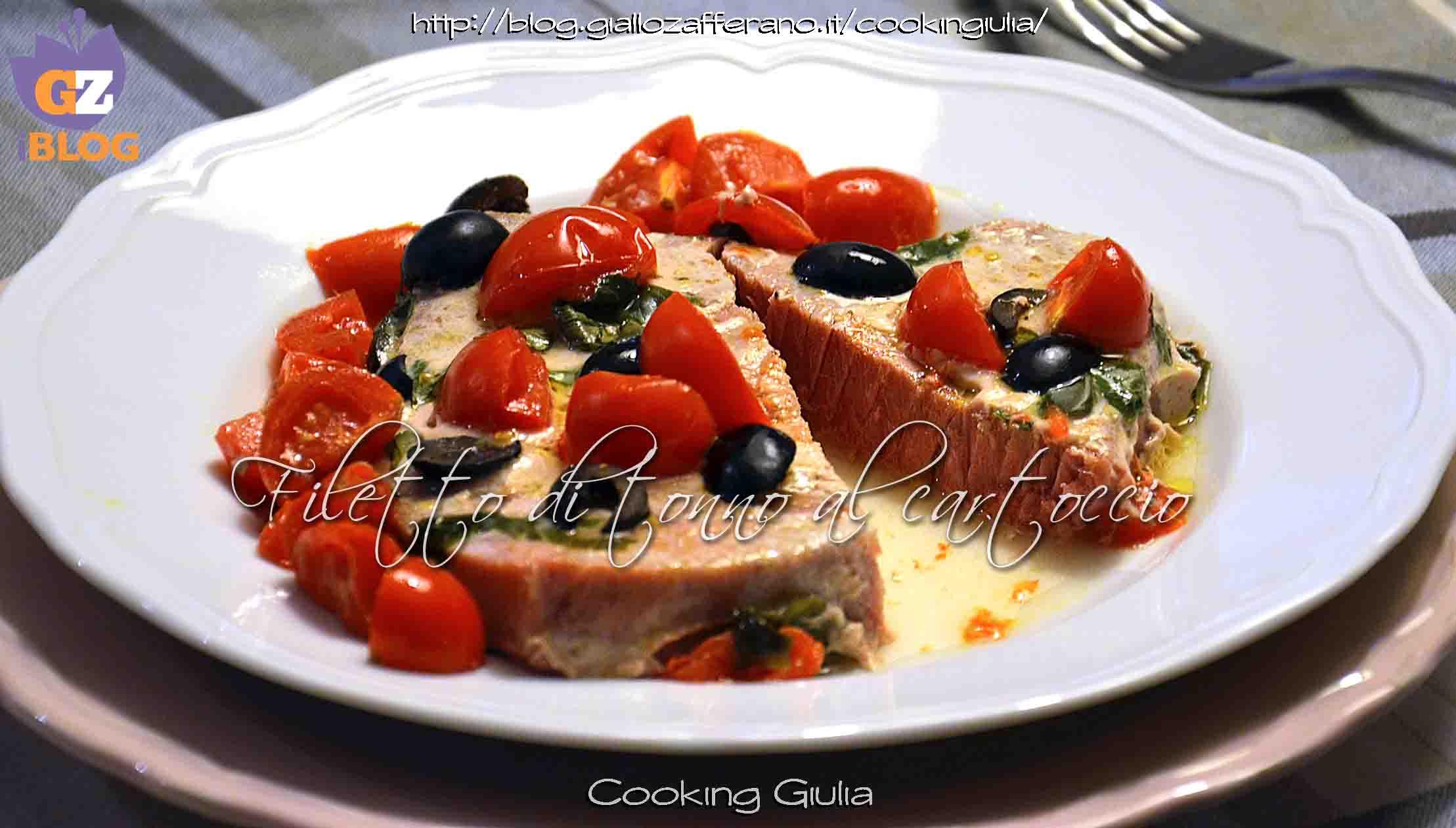 Filetto Di Tonno Al Cartoccio Con Pomodorini Olive Nere E Basilico  #BD2E0E 2217 1260 Ricette Di Cucina Disegni