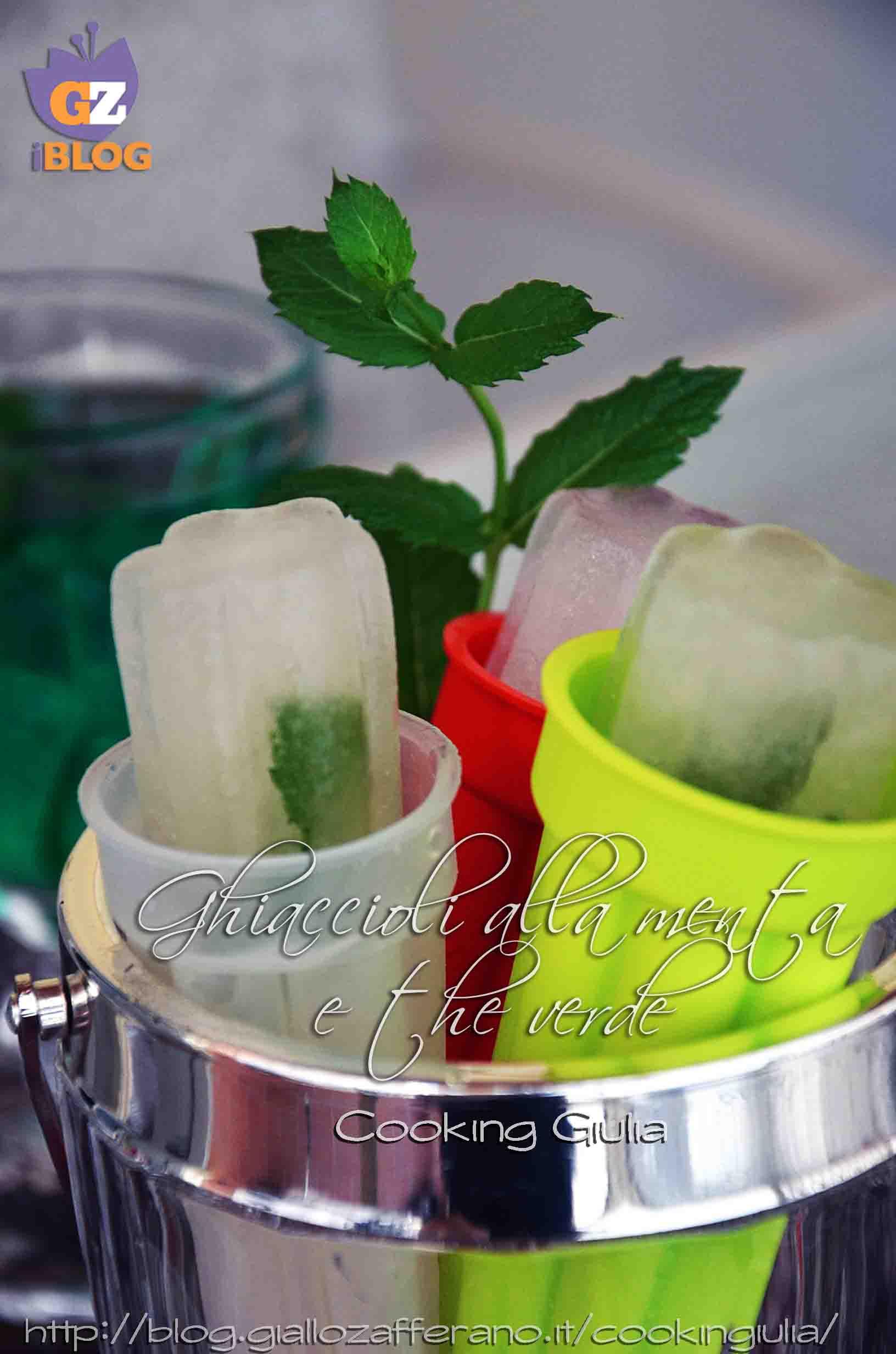 ghiaccioli, calippo, ghiacciolo, calippi, the verde, menta, estate, silikomart, stampi ghiaccioli, stampi silicone, cooking giulia