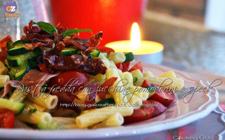 Pasta fredda con zucchine pomodorini e speck
