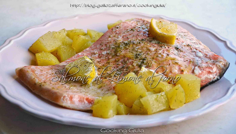 salmone al limone | cooking giulia | trancio di salmone | salmone | lemon grass | forno | salmone al forno