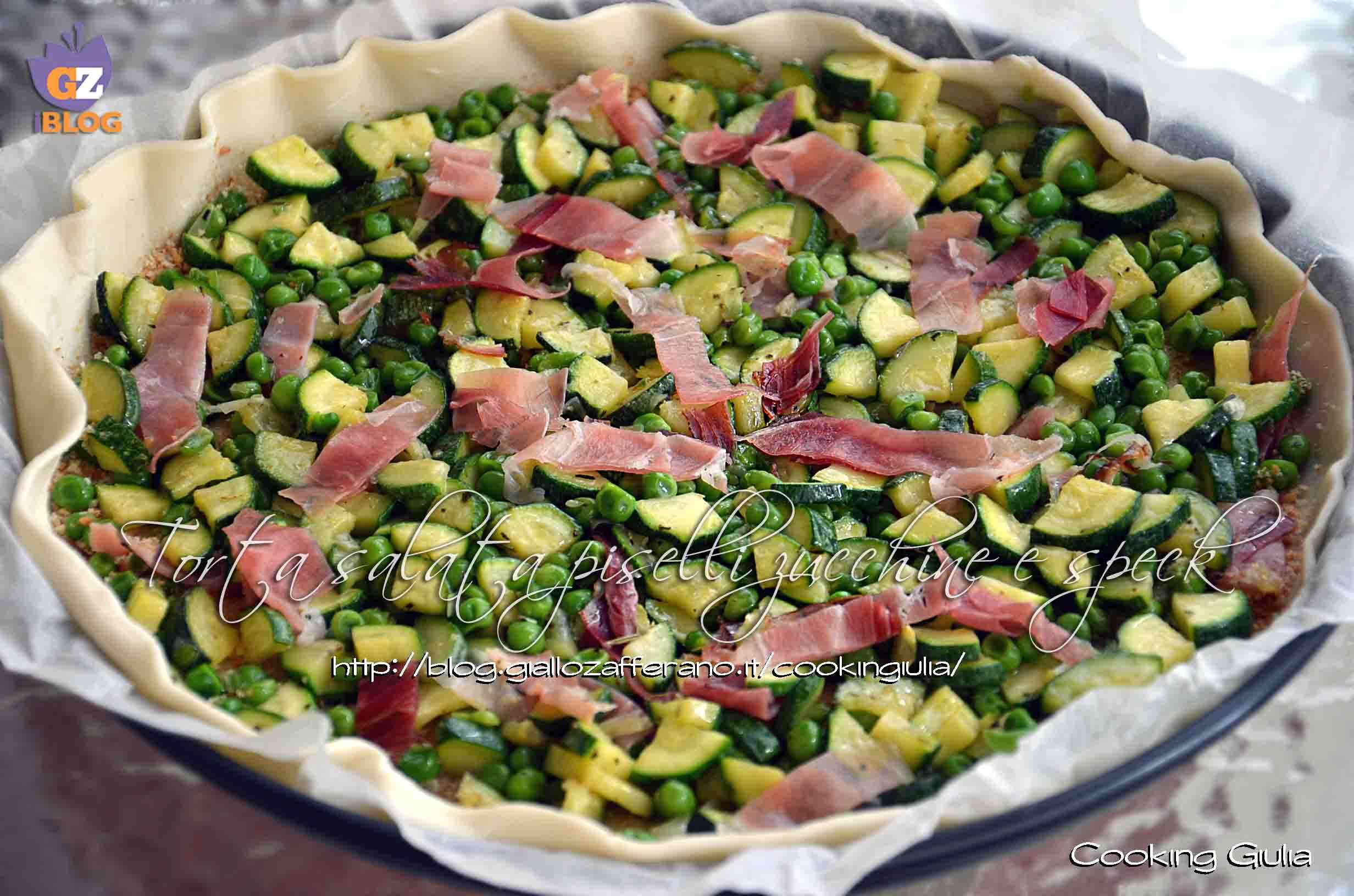 Torta salata pasta brisee con zucchine