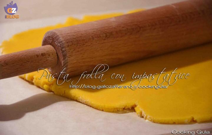 Pasta frolla con impastatrice
