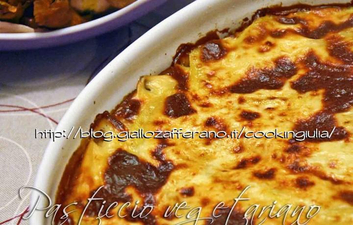 Pasticcio vegetariano con patate e piselli