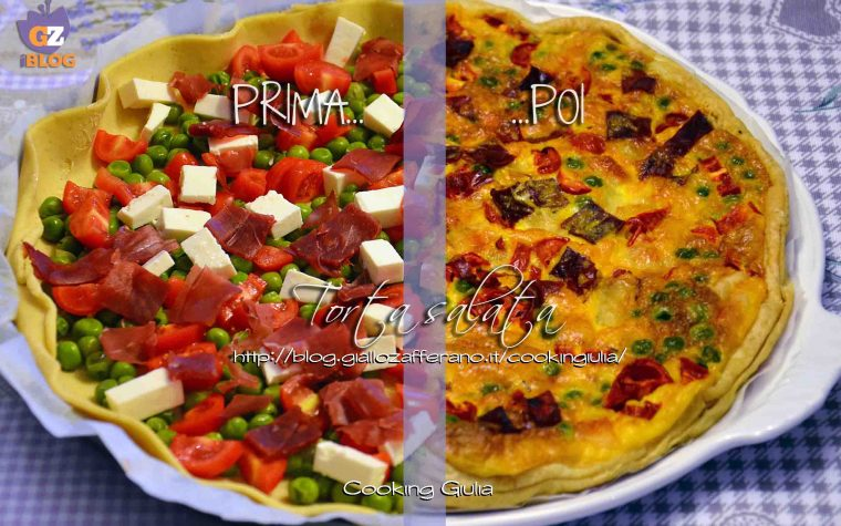 Torta salata bresaola piselli e pomodorini
