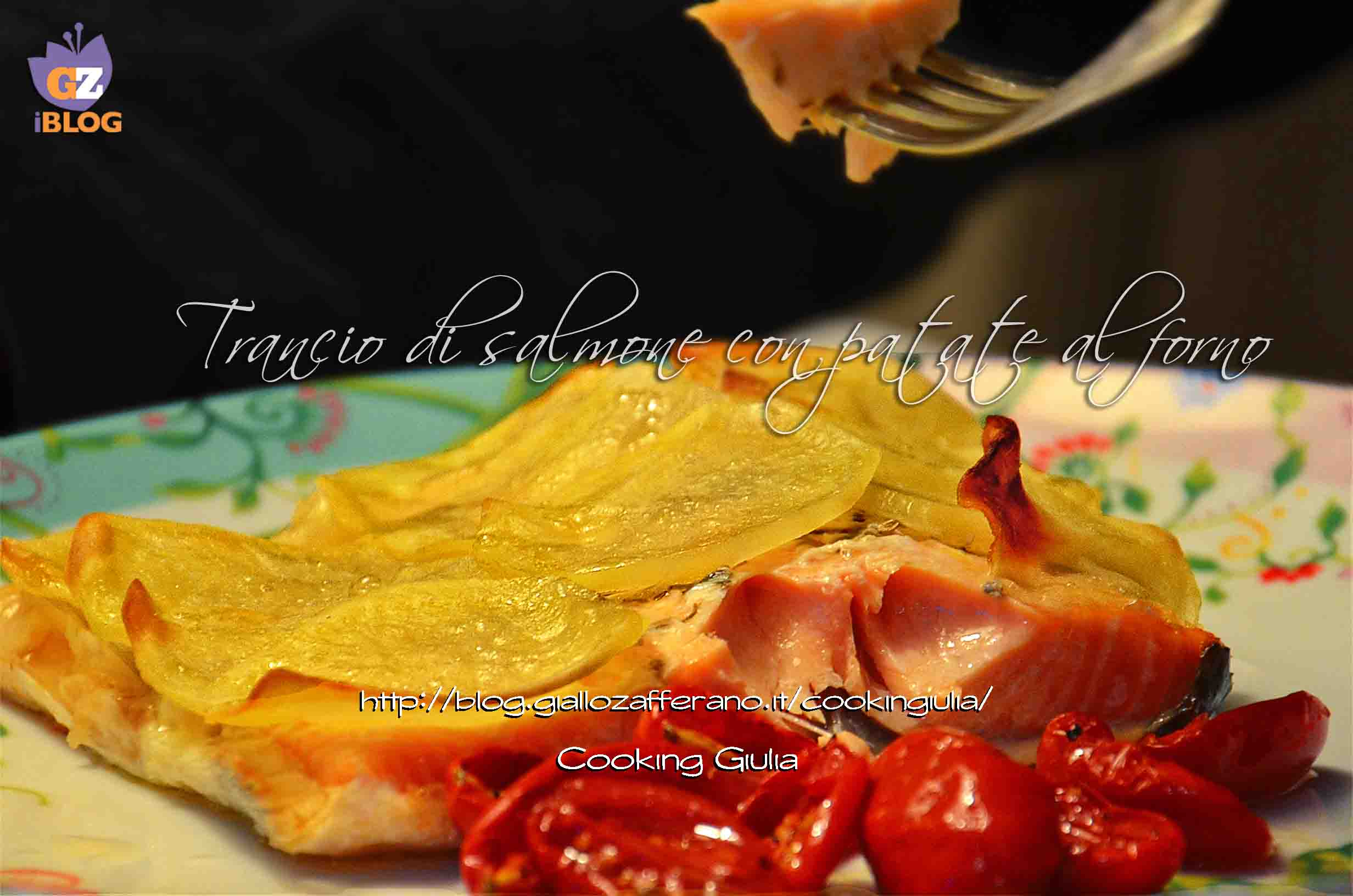 Salmone con patate al forno ricetta pesce secondo piatto
