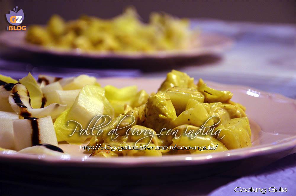 pollo | indivia | curry | latte di cocco | pollo con indivia | pollo al curry | padellata di pollo