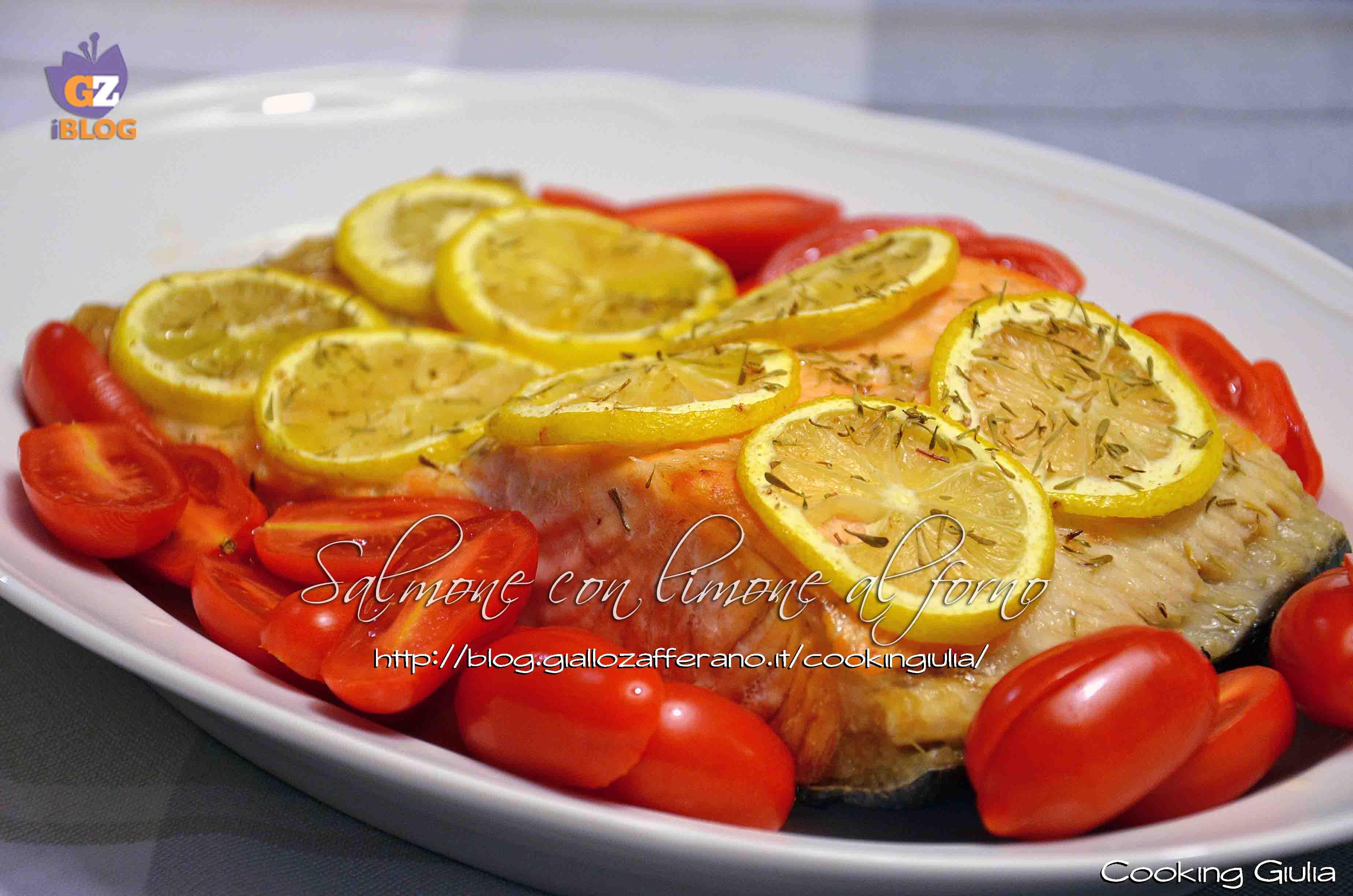Salmone con limone al forno ricetta pesce secondo - Forno a microonde con crisp ...