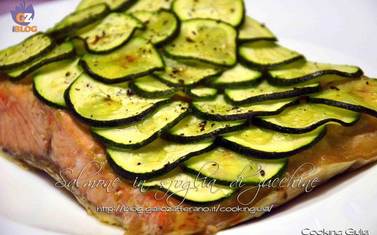 Salmone al forno con zucchine