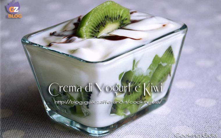 Crema di yogurt con kiwi