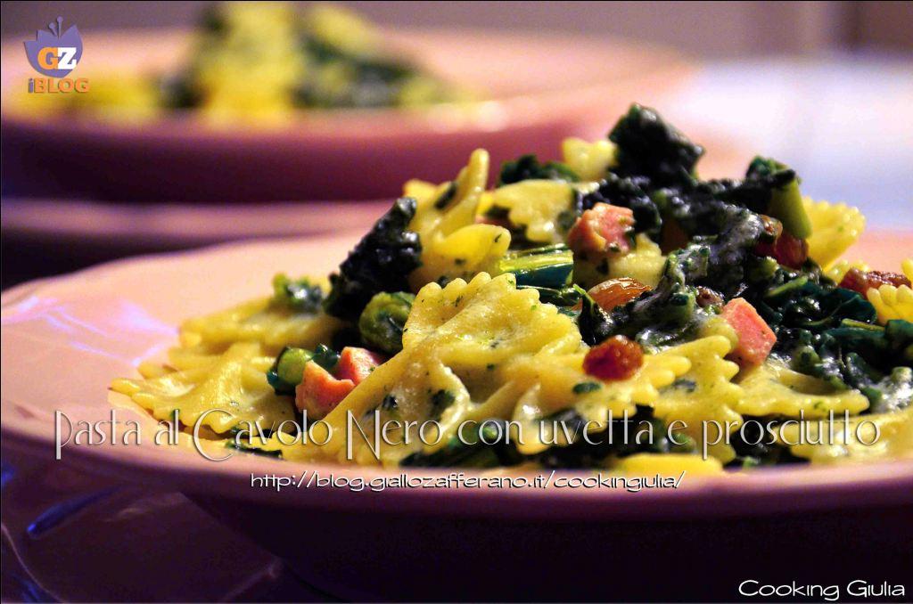 pasta | cavolo nero | prosciutto | ricotta | uvetta | ricetta | primo piatto | primo