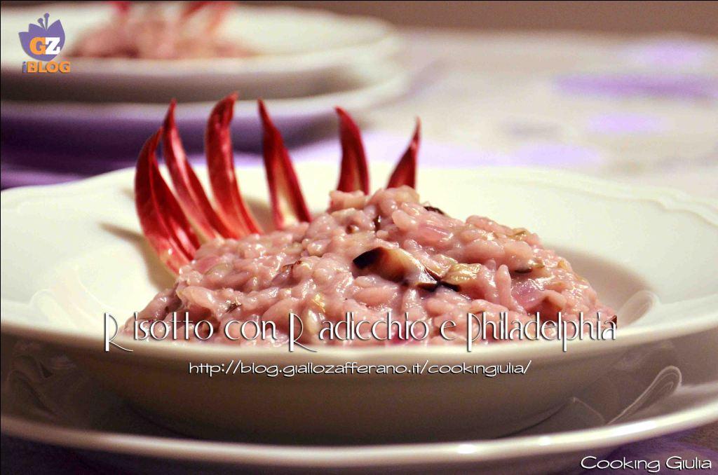 risotto con radicchio | ricotto | radicchio | radicchio di treviso | hiladelphia | cooking giulia