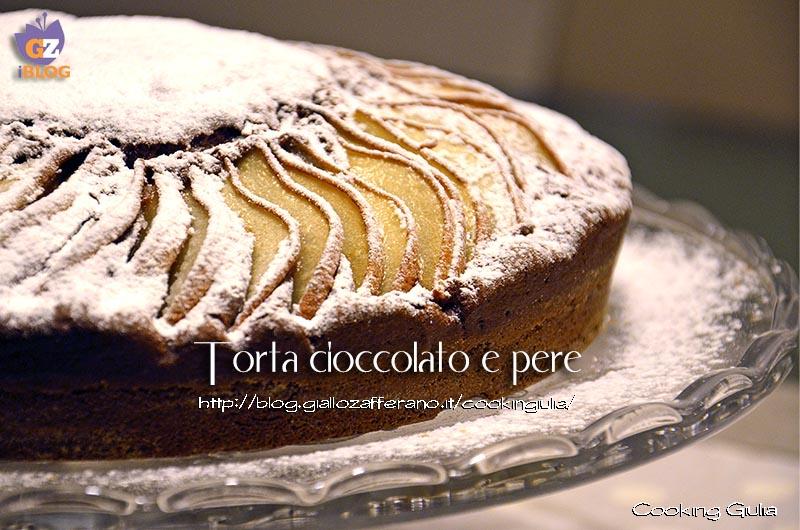 torta cioccolato, pere, cioccolato, ricotta, burro