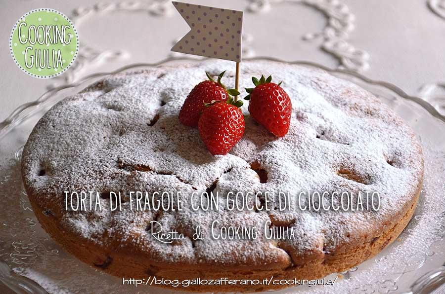 TORTA DI FRAGOLE | fragole | torta | cooking giulia | panna | cioccolato