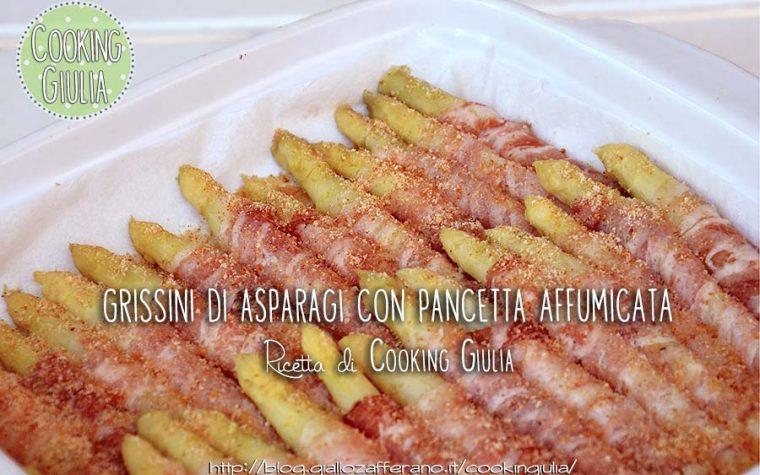 Grissini di asparagi con pancetta al forno