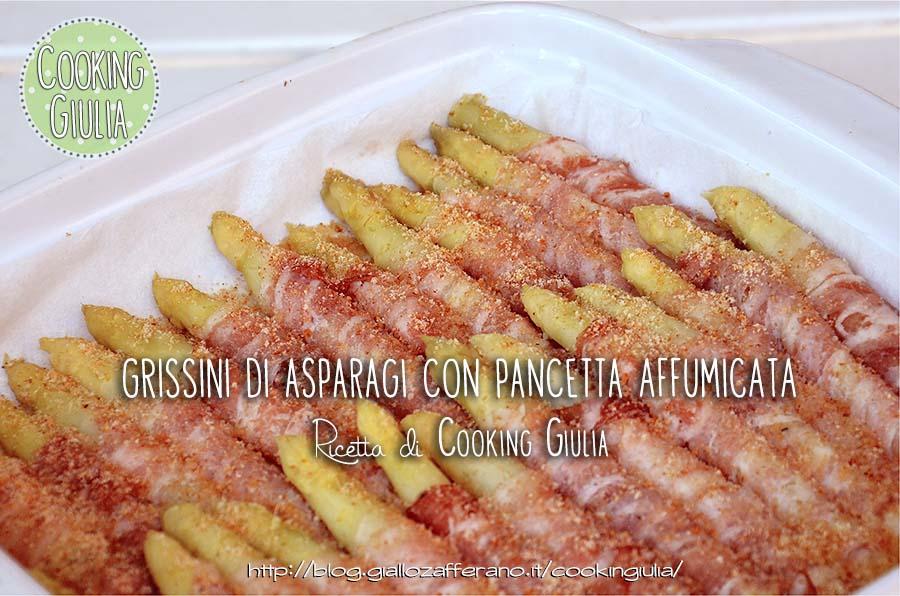 grissini di asparagi con pancetta affumicata