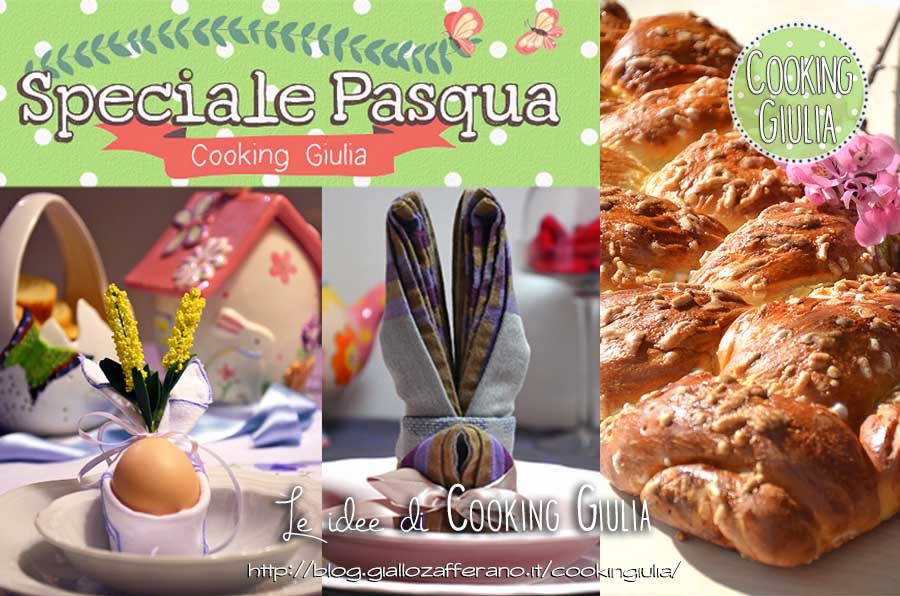 Tavola di pasqua le idee di cooking giulia centrotavola pasqua - La tavola di pasqua ...