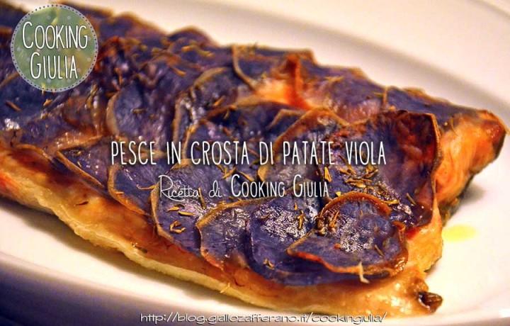 Pesce in crosta di patate viola (patate vitelotte)