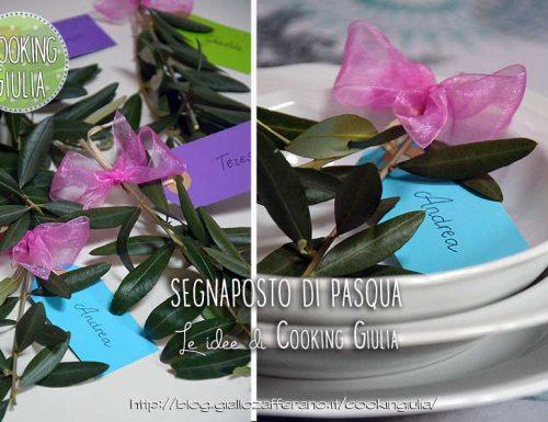 Segnaposto di Pasqua con rametti di olivo (easter placeholder)
