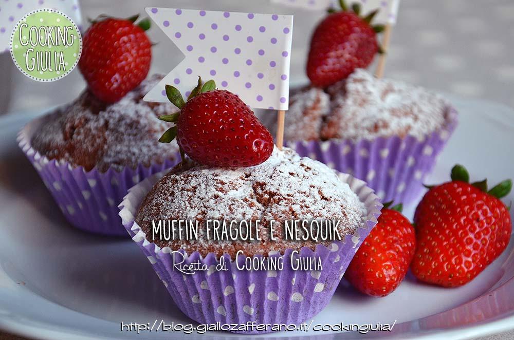 muffin | fragole | nesquik | muffin fragole | pirottini carta | pirottini muffin | bandierine muffin