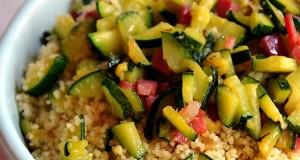 Cous cous zucchine e speck