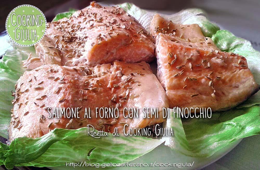 salmone | trancio di salmone | semi di finocchio | forno