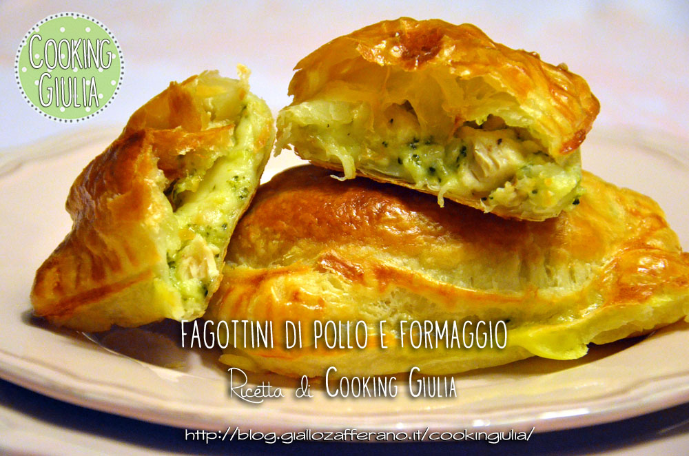 fagottini di pollo | pollo | sfoglia | mozzarella | cooking giulia