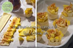 mele | pasta sfoglia | cannella | girelle | zucchero