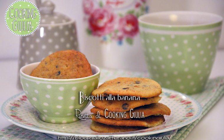 Biscotti alla banana con gocce di cioccolato