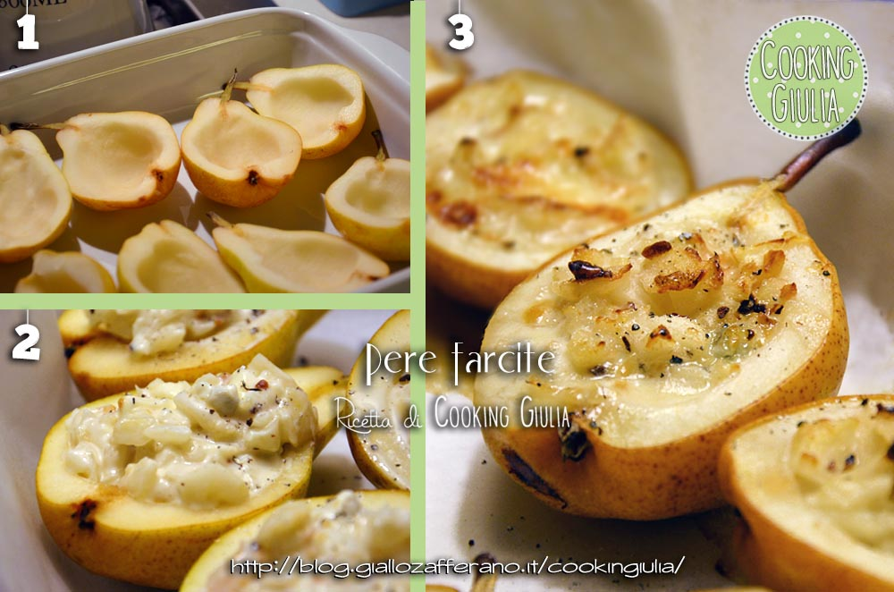 PERE RIPIENE AL GORGONZOLA | pere ripiene | gorgonzola | formaggio | pere | farcite