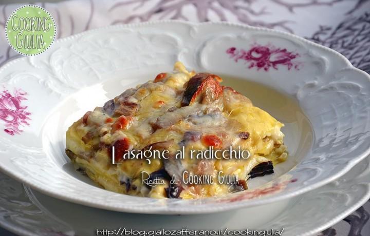 Lasagne al radicchio e scamorza