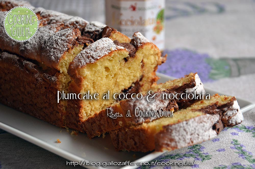 plumcake cocco nocciolata