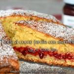 torta cocco farcita con marmellata