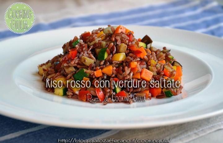 Riso rosso con verdure saltate
