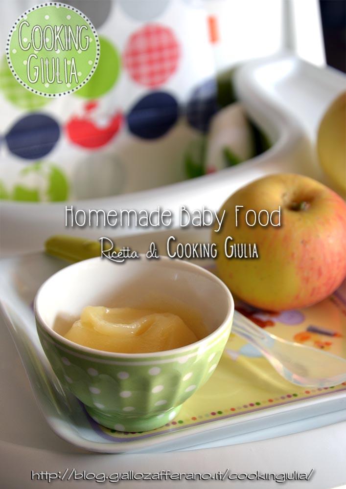 omogeneizzato   baby food   cooking giulia   ricette   fatto in casa   mela   svezzamento