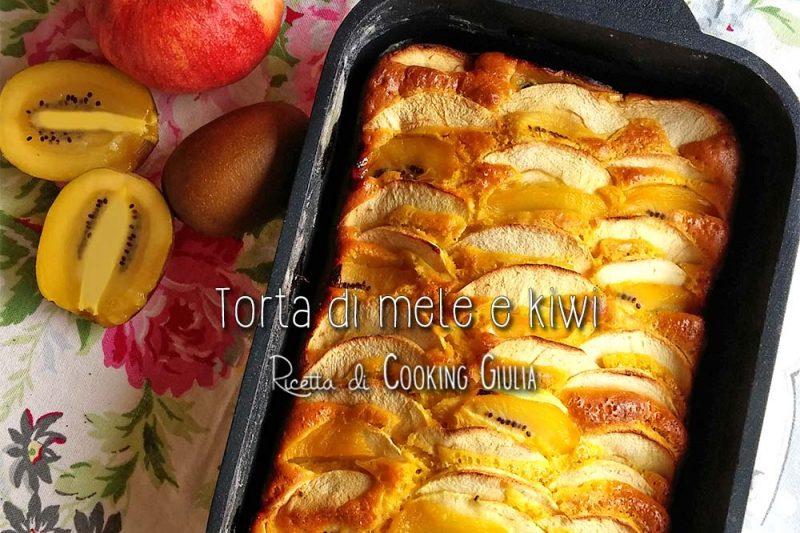 Torta di mele e kiwi