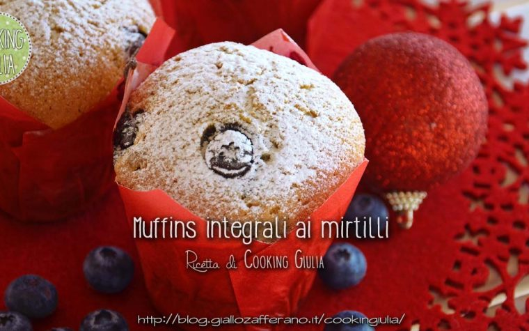 Muffin ai mirtilli con farina integrale